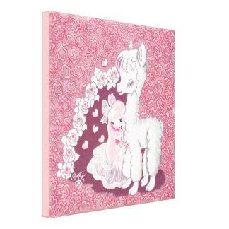 Alpaca Love Canvas Print