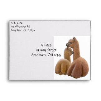 Alpaca Love Envelope