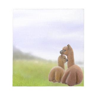 Alpaca Love Notepad