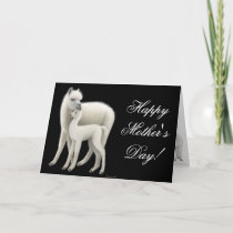 Alpaca Mom Happy Mothers Day Card