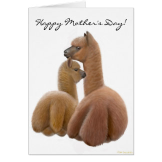 Alpaca Mom Happy Mother's Day Card