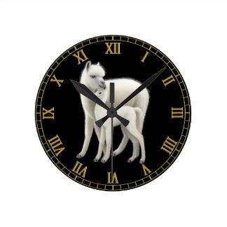 Alpaca Mother Love Wall Clock