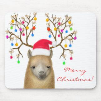Alpaca Mousepad de las Felices Navidad