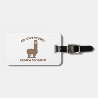 Alpaca My Bags Luggage Tag