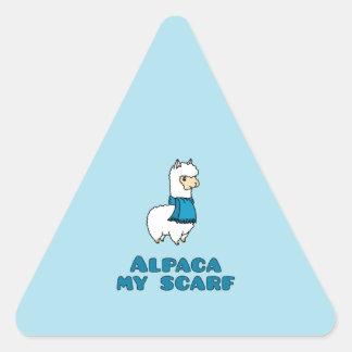 Alpaca My Scarf Triangle Sticker