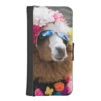 Alpaca, Pachacoto, Blanca de Cordillera, Ancash Funda Billetera Para Teléfono