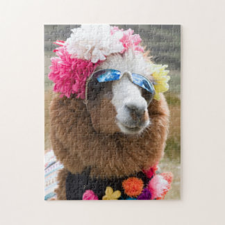 Alpaca, Pachacoto, Blanca de Cordillera, Ancash Rompecabezas Con Fotos