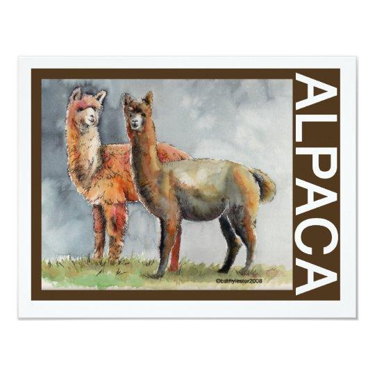 Alpaca Pair Card