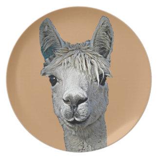 Alpaca Party Plate