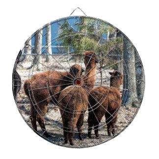 Alpaca peluda Behinds de Brown Tabla Dardos