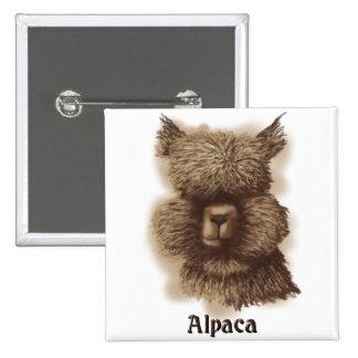 Alpaca Pinback Button