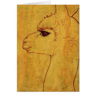 Alpaca Profile Greeting Card