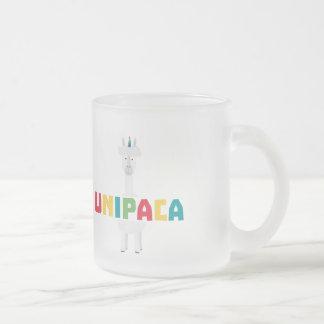 Alpaca Rainbow Unicorn Z0ghq Frosted Glass Coffee Mug