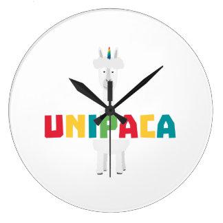Alpaca Rainbow Unicorn Z0ghq Large Clock