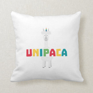 Alpaca Rainbow Unicorn Z0ghq Throw Pillow