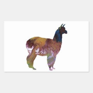 Alpaca Rectangular Sticker