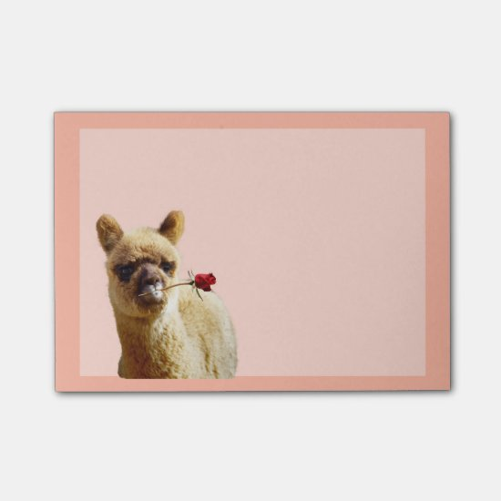 Alpaca Rose Post-it® Notes