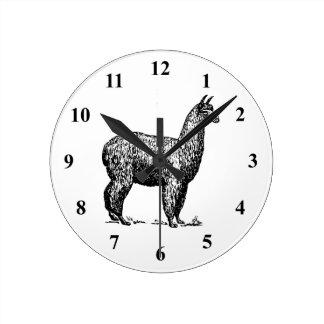 Alpaca Round Clock