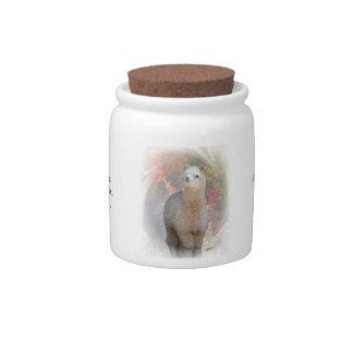 Alpaca Scripture Candy Jar