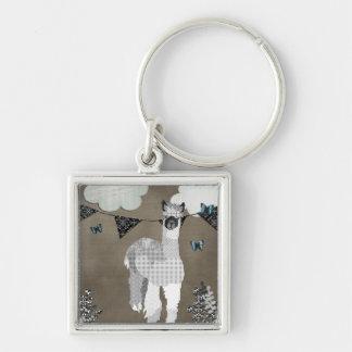Alpaca Shades of Grey Keychain