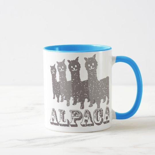 Alpaca Silhouette 4 B Mug