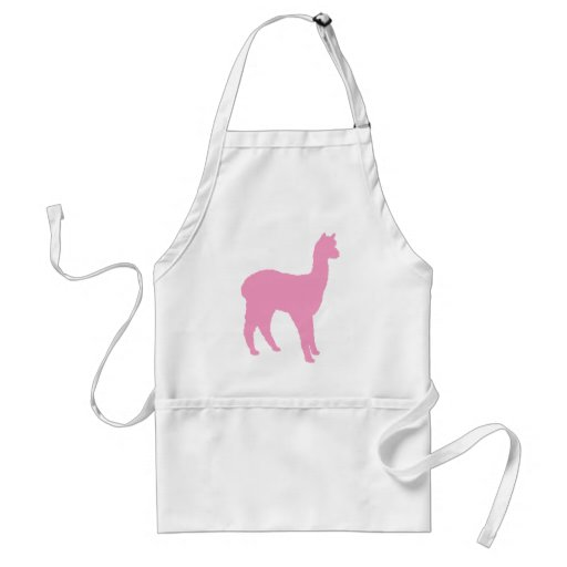Alpaca Silhouette (in pink) Adult Apron
