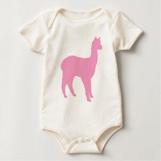 Alpaca Silhouette (in pink) Baby Bodysuit