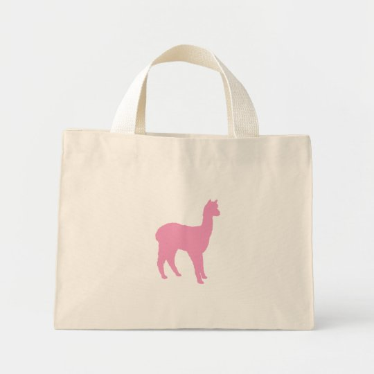 Alpaca Silhouette (in pink) Mini Tote Bag