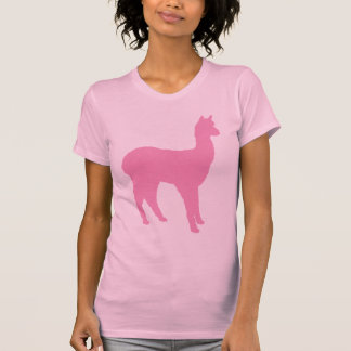 Alpaca Silhouette (in pink) T-Shirt