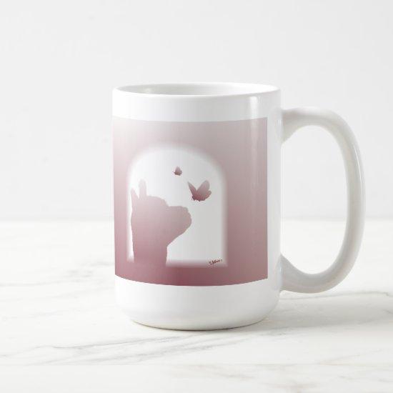 Alpaca Silhouette Scripture Mug