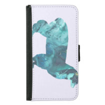 Alpaca silhouette wallet phone case for samsung galaxy s5