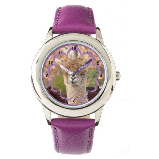 Alpaca Stainless Steel Purple Watch