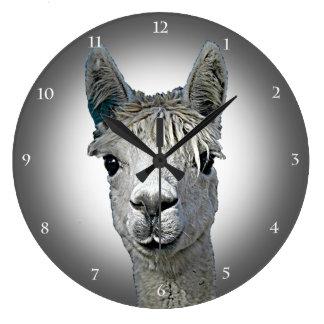 Alpaca Time Large Clock