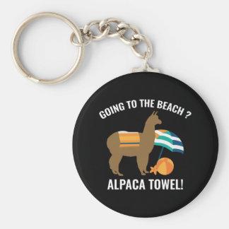 Alpaca Towel Keychain