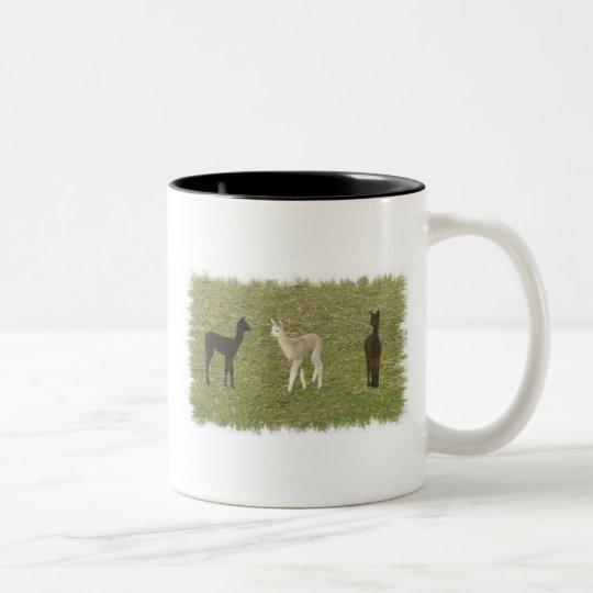 Alpaca Trio Two-Tone Coffee Mug