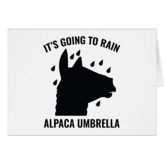 Alpaca Umbrella Card