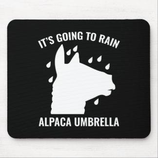 Alpaca Umbrella Mouse Pad