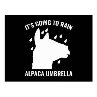 Alpaca Umbrella Postcard