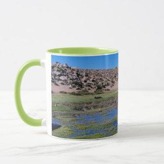 Alpaca (Vicugna Pacos) Grazing In Their Chilean Mug