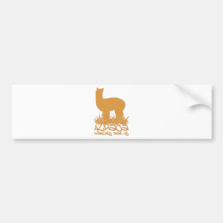 Alpaca watches over us bumper sticker