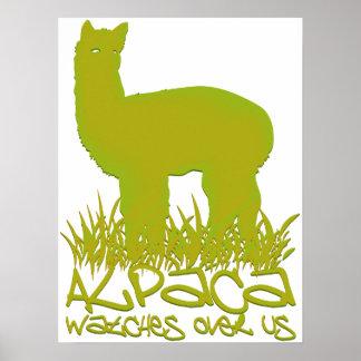 Alpaca_watches_over_us Impresiones