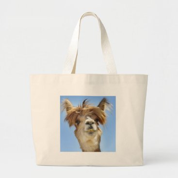 PhotosByDoty Alpaca with Crazy Hair Large Tote Bag