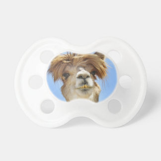 Alpaca with Crazy Hair Pacifier