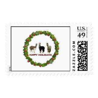 Alpaca wreath postage