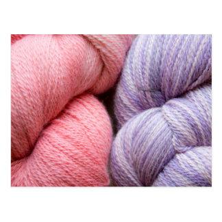Alpaca yarn postcard
