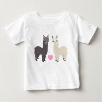 Alpacas and Heart Baby T-Shirt