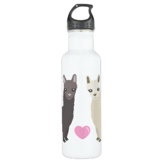 Alpacas and Heart Water Bottle