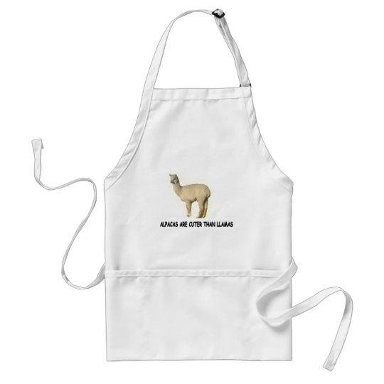 Alpacas are cuter than llamas adult apron