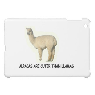 Alpacas are cuter than llamas iPad mini cover