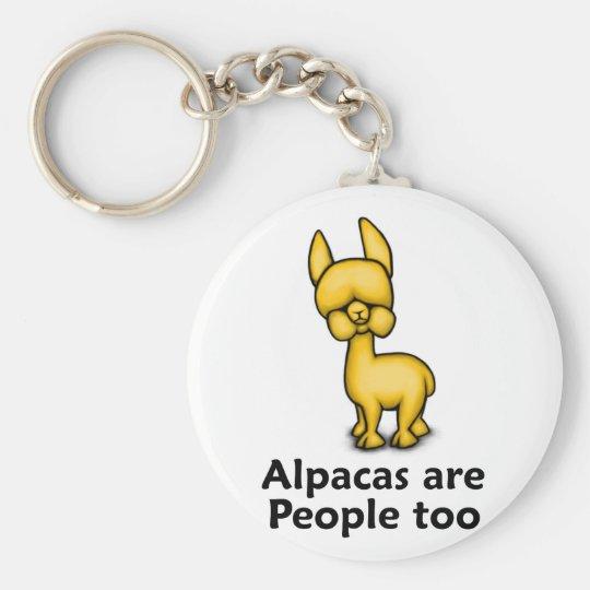 Alpacas are People too Keychain